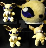Teddy style Jolteon by nightelfy
