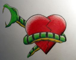 Snake and Heart by accomplicefarrell