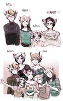 THE BARTLETT FAMILY (long character info in desc) by alpacasovereign