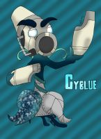 Cyblue the Plasma Peashooter (Reconstructed Grean) by Sergeant-Sunflower