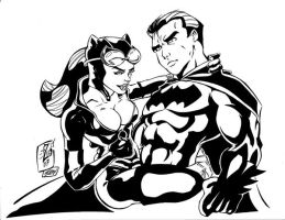 Catwoman Bats inks by madman1