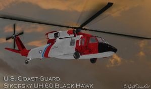 US Coast Guard Black Hawk (Re-Updated XPS) by bstylez