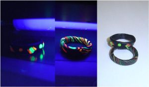 Neon light rings by MorticiaVamp