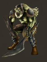 Howling orc by Ejeda