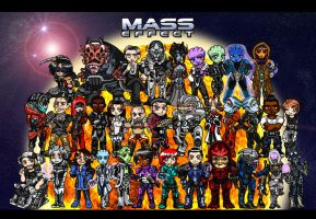 Mass Effect Chibi Group by AmayaMarieSuta