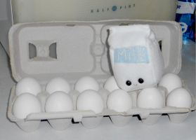 Milk Plushie and Eggs by Love-Who