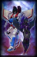 MNC : Starscream n Nightwind by Beriuos
