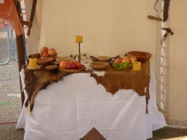 Medieval table with fruits by A1Z2E3R