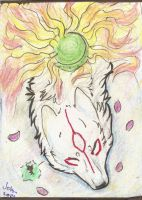 ACEO trade - The Sun Goddess by Jekkuilija