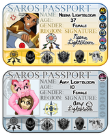 Neena and Amy's Passports by Galactic-Rainbow