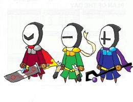 Masked warriors by excabluir