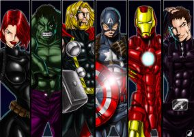 The Avengers by Osmar-Shotgun