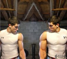 Basement workout before and after by wannabehuge