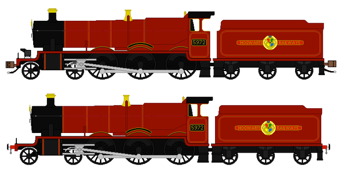 Olton Hall #5972 (The Hogwarts Express) Faceless by TNO-794