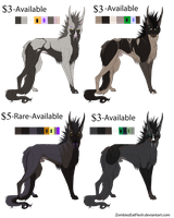 Sithyres Adoptables Open (Reduced Price) by ZombiezEatFlesh