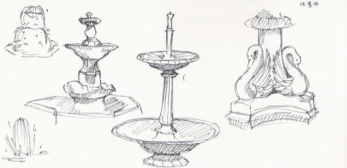 Fountain sketches by madelinebyrne