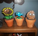 Plants VS Zombies Perlers by Libbyseay