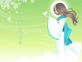 Hope to Japan 2 by minercia