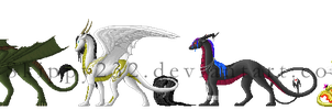 Pixel Dragons by MitheaLaval