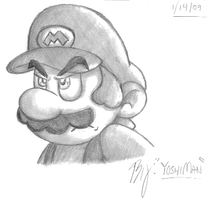 Shaded Mario by YoshiMan1118