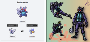 Pokefusion - Buttertortle by cheddarpaladin