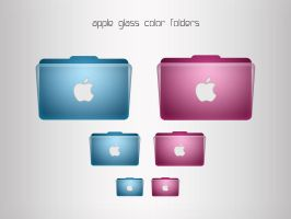 apple glass color folders by FocusMan