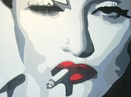 Madonna Smoking by popeye66