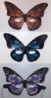 Butterfly Masks by MagicInButterflies