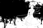 Arcana wallpaper - Black and White version by Pinilo