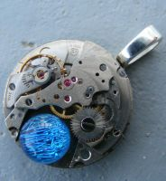TIME TRAVEL STEAMPUNK PENDANT by Create-A-Pendant