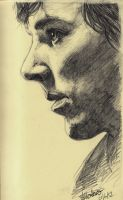 Moleskin Sketch: Cumberbatch by Montaneous