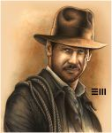 Indiana Jones - Watercolour by Erik-Maell