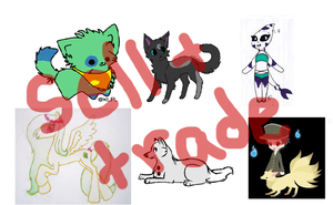 Characters - Sell and/or Trade! by ChibiFox12