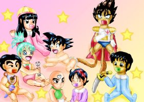 Dragonball Babies by YamchaFan91