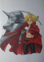 Edward and Alphonse Elric by MargaHeartfilia