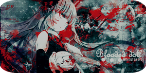 Blooded doll without an eye by sky--fall