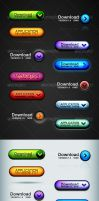 Web 2.0 Button Set Pro by diegomonzon