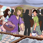The Market by curiousdoodler
