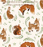 Woodland Tile Background by InkxInk