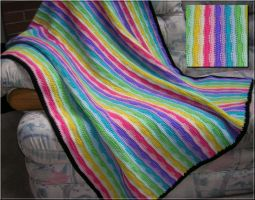 Rainbow-striped Blanket by IceArrow88