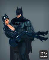 Batman and Catwoman by utomo-san