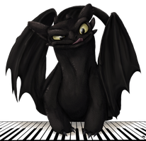 Toothless the Pianist by Spiritwollf