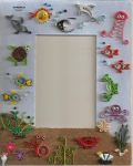 quilling picture frame:the sea by sombra33