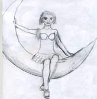 Lady on the Moon by Karoyence
