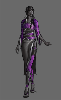 Commission - Lady Zunjing Yong, Drow Dragon Lord by ZillegasArt