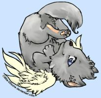 Winged Wolf Cub- Color by feELwiCKed922