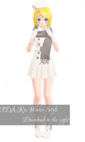 TDA Rin Winter Style Download [MMD] by Yuu2002