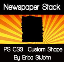 Newspaper Stack PS CS3 Shape by estjohn