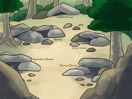 Rockclan Camp With Labels By Nuggalo by ROTC-Donations