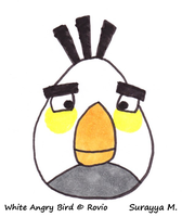White Angry Bird by SageEarth